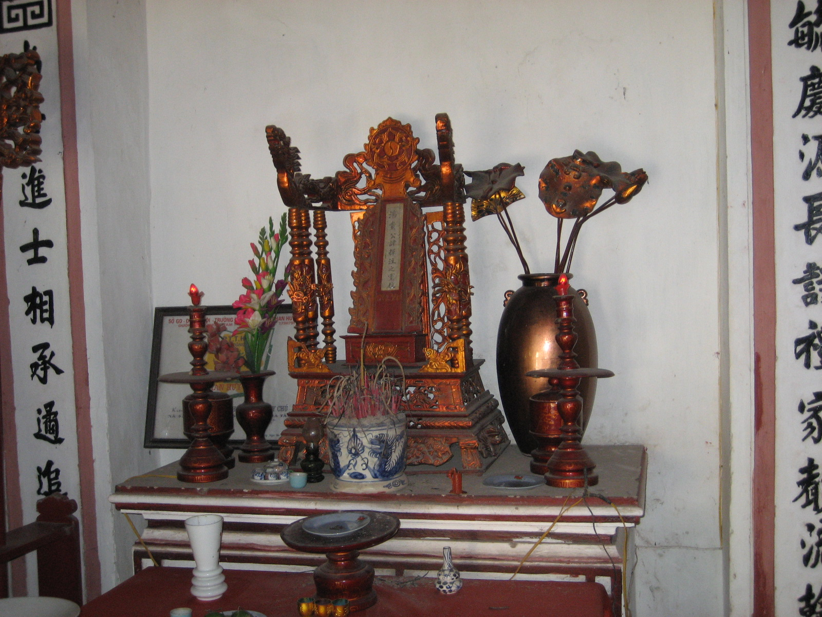 Ảnh ban thờ cụ Phan Huy Chú