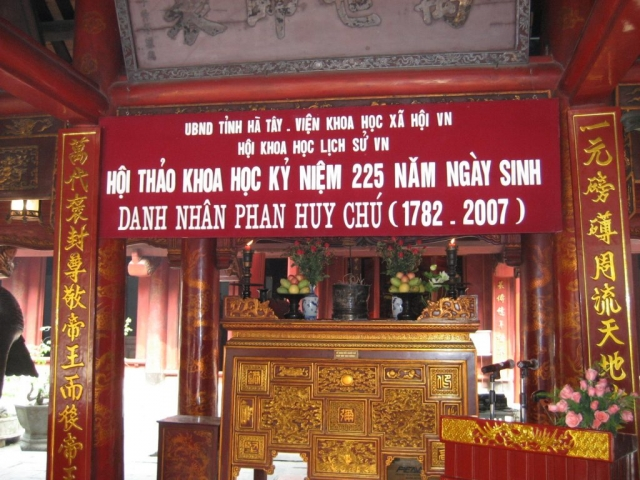HỘI THẢO KHOA HỌC KỶ NIỆM 255 NGÀY SINH DANH NHÂN PHAN HUY CHÚ 1782 – 2007 – TẠI VĂN MIẾU – QUỐC TỬ GIÁM – HÀ NỘI